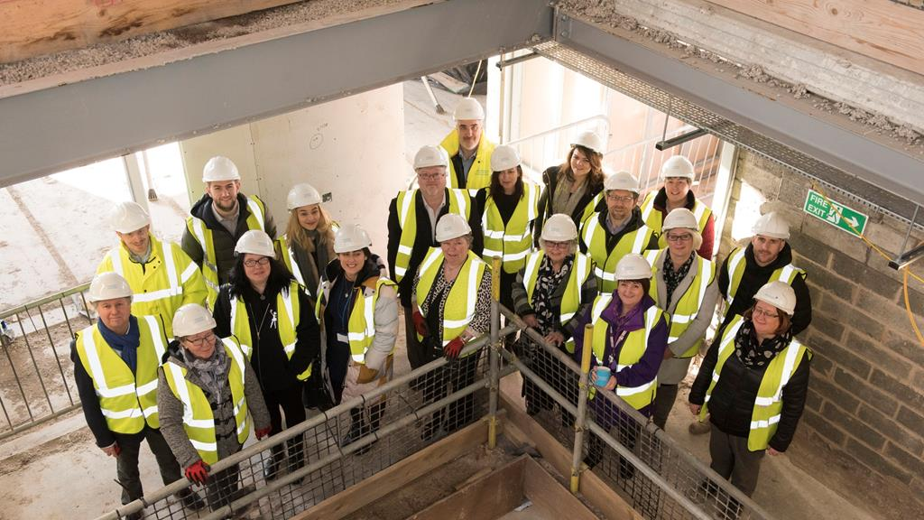 Strand Hub topping out ceremony